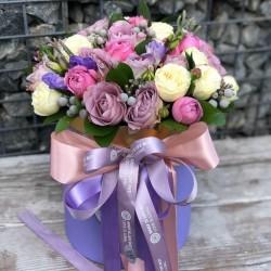 """Коробочка с цветами """"Нежное прикосновение"""""""