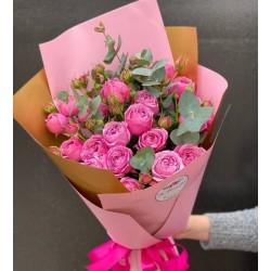 "Букет роз ""Мисти Баблз"""