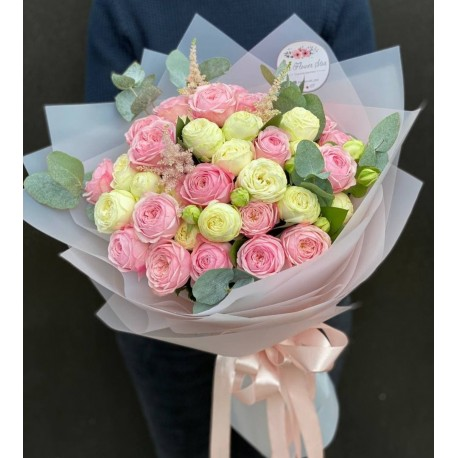 "Букет пионовидных роз ""Мелодия любви"""