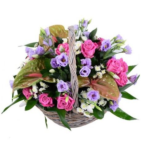 "Корзина из цветов ""Анна"""