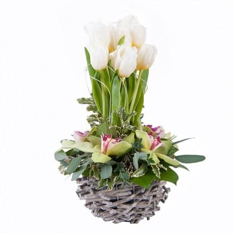 """Корзина из цветов """"Февраль"""""""