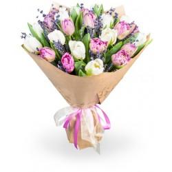 "Букет""Тюльпаны розовые"""