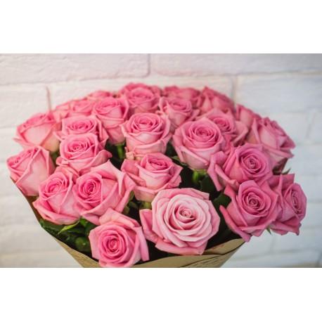 """Букет""""Роза розовая Аква"""""""